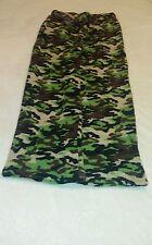 New Microplush Military Camouflage Pajama/Lounge Pants for Boys (Size 16-18)