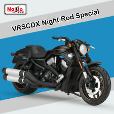 Maisto Harley 1:18 Black 2012 VRSCDX Night Rod Special Motorcycle Diecast Model