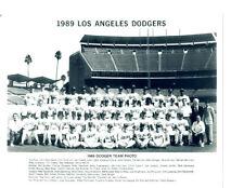 1989 LOS ANGELES DODGERS TEAM  8x10 PHOTO  BASEBALL BEAN LASORDA VALENZUELA HOF