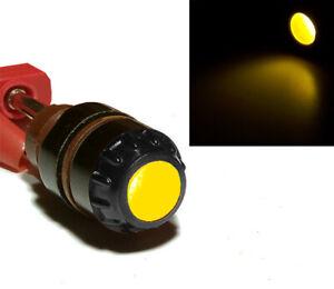 8 pcs 1.5-30V Dash Panel Pilot Indicator Light Lamp Yellow + E10 Bulbs USSR NOS