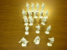 18 MILITARY ACADEMY CADETS Marx 1950's cream Playset figures lot #1