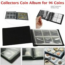 90 Coin Album Coins 50p Penny Money Storage Case Holder Collector Folder Book UK