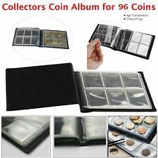 90 Coin Album Coins 50p Penny Money Storage Case Holder Collector Folder Book UK