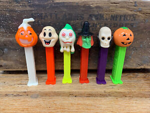 PEZ Halloween Lot of 6 Witch, Pumpkin, Monsters- Hungary and Slovenia