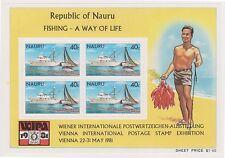 (K33-17) 1981 Nauru fishing M/S (B) MUH