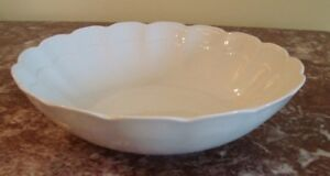 """1988-2004 KAISER West Germany ROMANTICA All White 8-1/4"""" COUPE SOUP BOWL"""