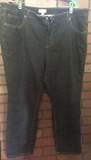 2x 3x 22w PLUS Denim & Co Jeans Pants Slacks NEW NICE Stretch Dark Wash