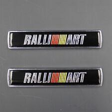 2pcs Ralliart 3D Metal Refitting Side Fender Emblem Sticker Badge F032