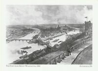 "~Post Card~Pennsylvania-""Point from Mount Washington,1890"" -*Pittsburgh (XT-46)"