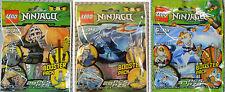 Lego Ninjago Lot Kendo Cole, Jay ZX & Zane ZX, 9551 9553 9554 NEW SEALED RARE