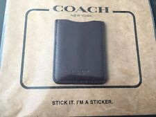Coach Leather Cell Phone IPhone Android Pocket Sticker Credit Card Oxblood Brown