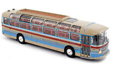 Saviem S53M 1970 creme with red & blue stripes 1:43 Norev 530013