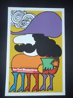 3 MUSKETEERS / Cuban Silkscreen Poster by BACHS for U.S + British Movie CUBA ART