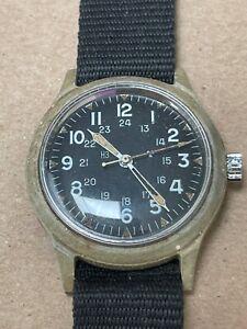 Vintage Benrus MIL-W-46374 US Military Watch Mar 1969 Vietnam Era REPAIR