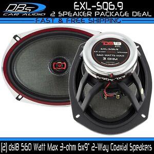 """DS18 EXL-SQ6.9 6x9"""" Coaxial Car Door Speaker 560 Watt 3 ohm 2-way Neo Fullrange"""