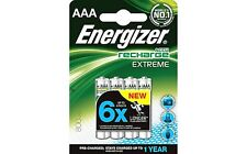 Energizer AAA 800 mAh Rechargeable Batteries NI-MH 4 PACK HR03 Pre-Charged NEW