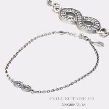 """Authentic Pandora Silver Symbol Of Infinity With CZ Bracelet 7.1"""" 590509CZ-18"""