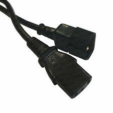 3m Black Datazone IEC Male (C14) - IEC Female (C13) Power Extension Cable