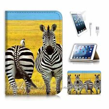 ( For iPad mini 4 ) Flip Case Cover! P1192 Zebra