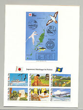 Palau #295-296 Philanippon Birds Fish Maps Flying Boat Art 1v m/s of 6 + 1v S/S