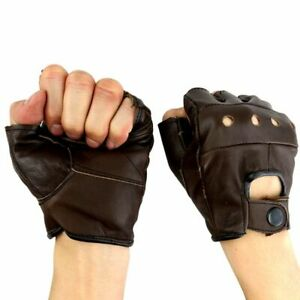 Last Punch Brand Brown Fingerless Sport Weight lifting Workout Gloves Small -
