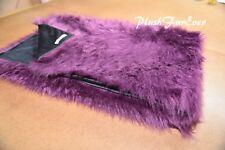 6' x 5' Eggplant Plum Lavender Fur Throws/ Faux Fur Blanket/ PlushFurEver USA