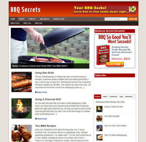 BARBEQUE TIPS WEBSITE FOR SALE + AFFILIATES & BANNERS FREE DOMAIN + SSL CERT