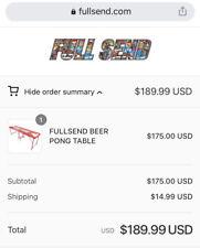 Nelk Full Send Beer Pong Table JUNE DROP