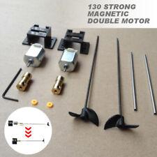 2 Set Double Motors RC Boat Motor Drive Kit For 130 Motor +15CM Shaft+Propeller