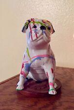 "Pug Splatter Painted - 3D Printed Original Art Decor 5.5"" High - One of a Kind"