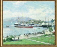 Thomas Kinkade Alcatraz Framed Oil on Canvas