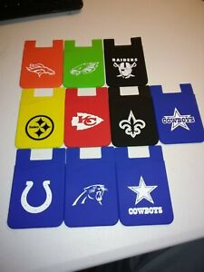 Football Teams Silicone cell phone credit card holder