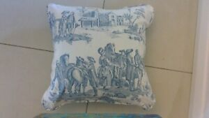 Toile de Jouy in blue Cushion Covers