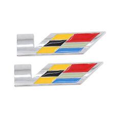 2PCS 3D Trunk Fender V Series Emblem  For Cadillac SRX XTS ATS CTS ATSL