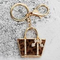 Small Bag Shaped Rhinestone Handbag Fashion Keychain Mini Purse Keyring H