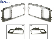Mercedes w126 URO Headlight Head Light Door Rim L+R Head Lamp Lens Trim