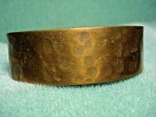 Vintage Hand Hammered Solid Copper Cuff Bracelet  34 gr