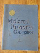 vintage Massey Business Colleges BOOK Richmond VA Birmingham AL Houston TX rare