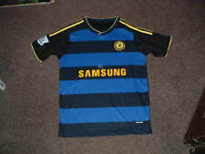 CHELSEA Football Club Samsung Barclays Adidas Striped Soccer Jersey Medium