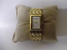 Henley ladies gold tone quartz bracelet dress watch with diamantes 16cm