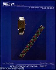 Catalogue Vente Briest Bijoux Horlogerie de Collection Jewels Jewelry Watches