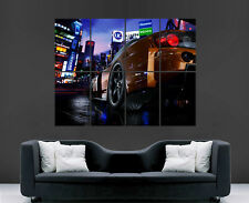 HONDA S2000 CAR POSTER TOKYO CITY NEON BRIGHT LIGHTS LED ART PICTURE PRINT