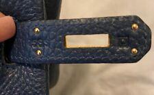 Hermes 35cm Birkin Bag/ all Blue De Malte Togo Leather Gold Hardware/ Excellent