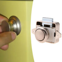 Push Lock Button Catch Lock Cupboard Door Knobs Motorhome Cabinet Drawer Latch