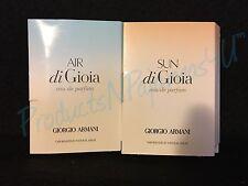 LOT of 2~Giorgio Armani ACQUA DI GIOIA SUN & AIR Eau de Parfum.05oz/1.5ml SAMPLE