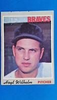 1970 Topps Hoyt Wilhelm Atlanta Braves HOF Vintage Baseball Card #17