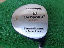 Tour Edge Bazooka Offset 3 Super Lite Fairway Wood 15 Degree Senior A Flex NEW