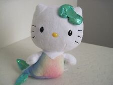"Ty Sanrio HELLO KITTY MERMAID 6"" Cat Plush Stuffed Animal"