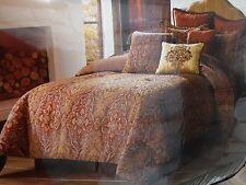 Veratex Barclay Queen Gold Comforter Set Shams Bedskirt