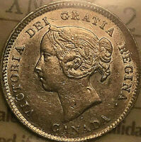 1888 CANADA SILVER 5 CENTS COIN - ICCS EF-40 - Excellent example!